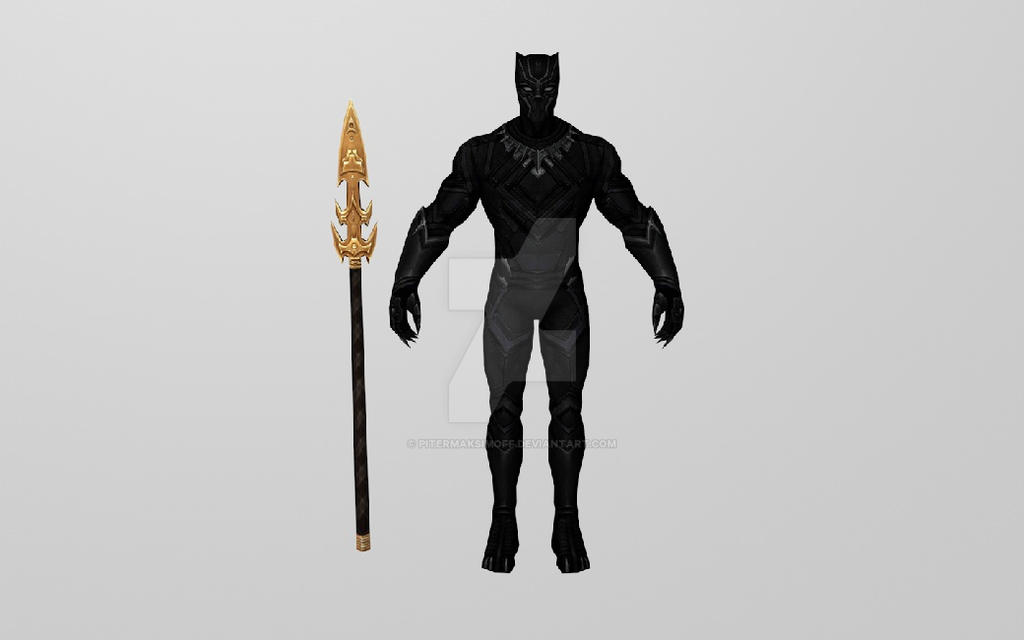 Civil War Black Panther 3DModel (MFF) by Pitermaksimoff