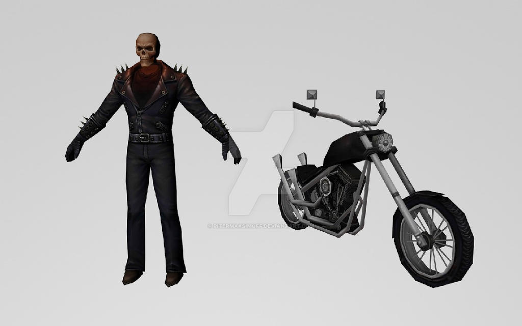 Ghost Rider and his Bike 3dModels (MFF) by Pitermaksimoff