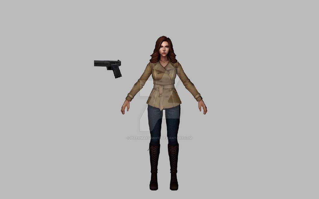 Black Widow Civil War (MFF 3DModel) by Pitermaksimoff