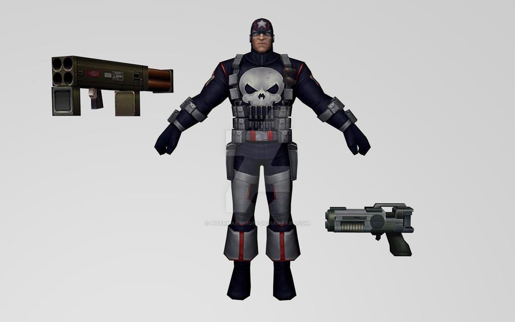 Punisher Captain America (MFF) 3DModel by Pitermaksimoff