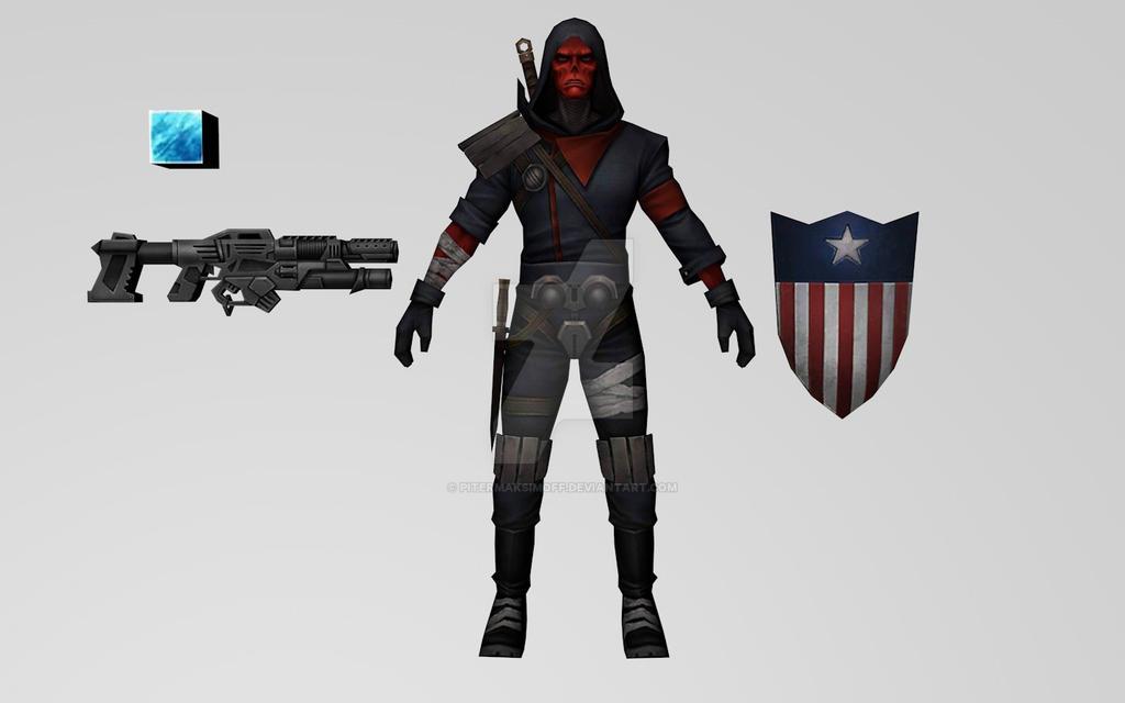 Red Skull Secret Wars (MFF) 3DModel by Pitermaksimoff