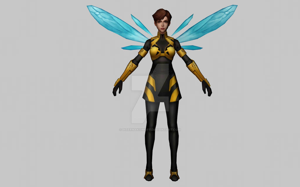 Wasp All New All Different (MarvelFF 3D Model) by Pitermaksimoff