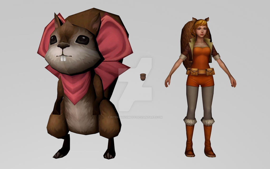 Squirrel Girl (MarvelFF 3D Model) by Pitermaksimoff