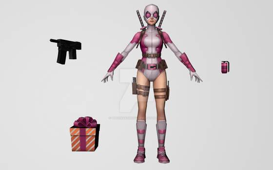 Gwenpool (MarvelFF 3D Model)