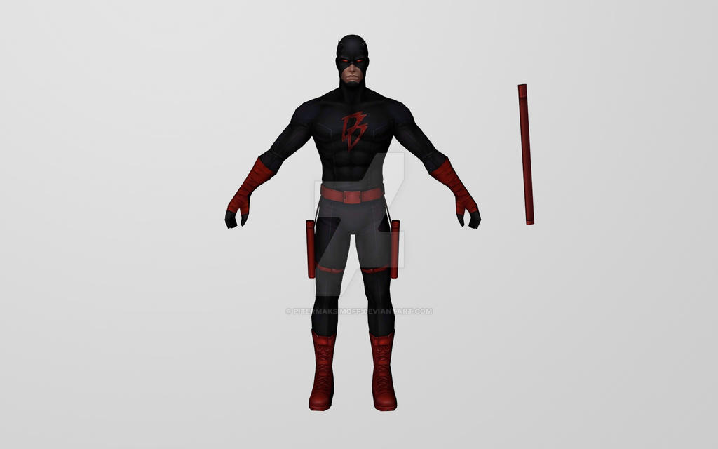 Daredevil Shadowland (3D Model MFF) by Pitermaksimoff