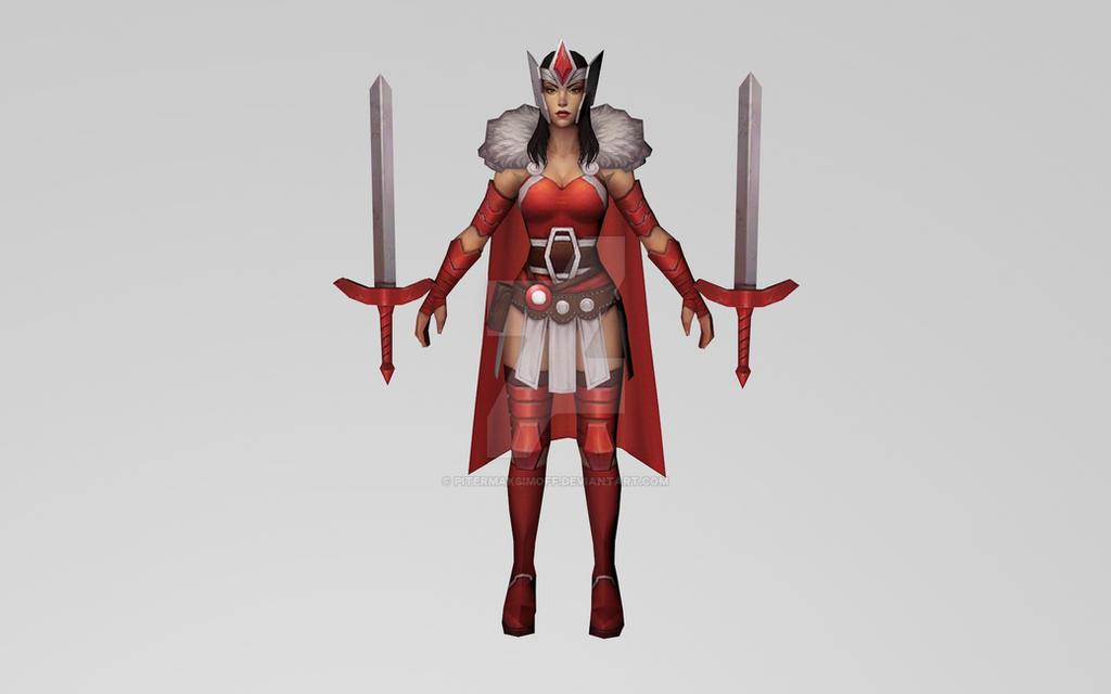 Lady Sif / Comics (MFF 3D Model) by Pitermaksimoff