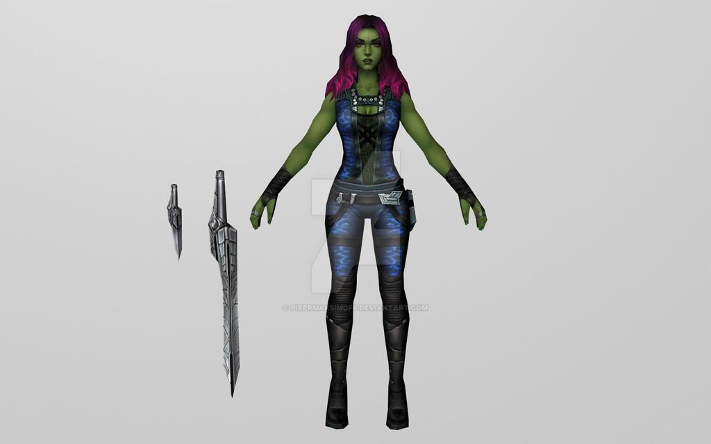 Gamora / GOTG (MFF 3D Model) by Pitermaksimoff