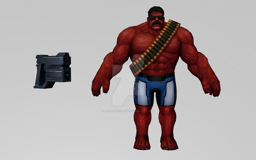 Red Hulk (USA Avengers) by Pitermaksimoff