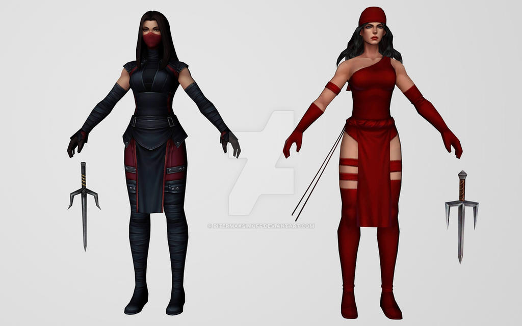 Elektra (Comic and MCU) by Pitermaksimoff