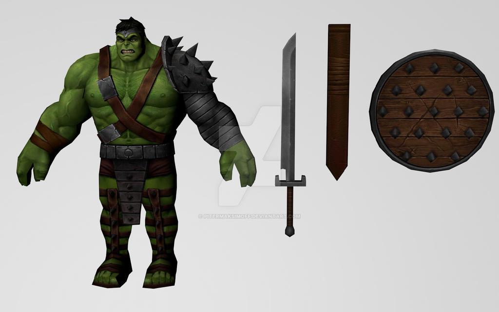 Hulk (Wold War Hulk) by Pitermaksimoff