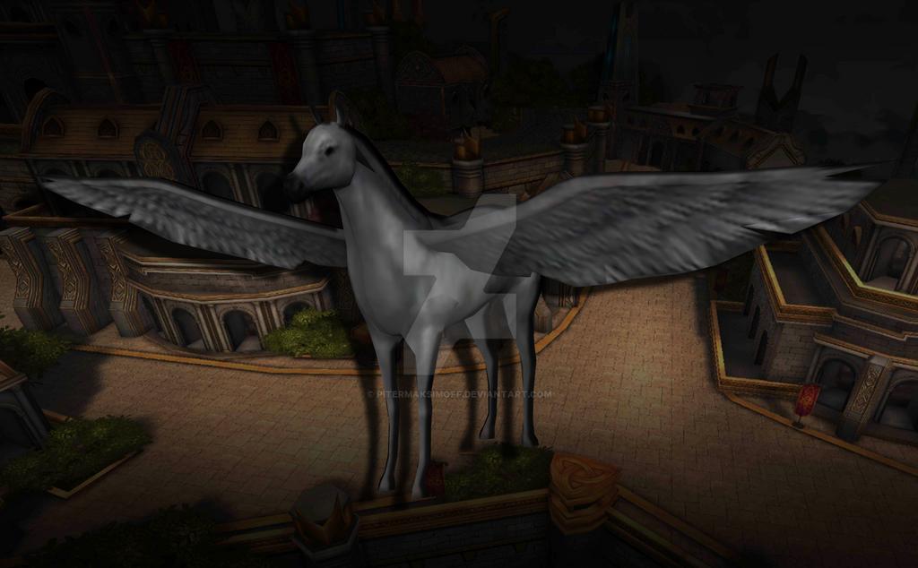 Valkyrie s Horse by Pitermaksimoff