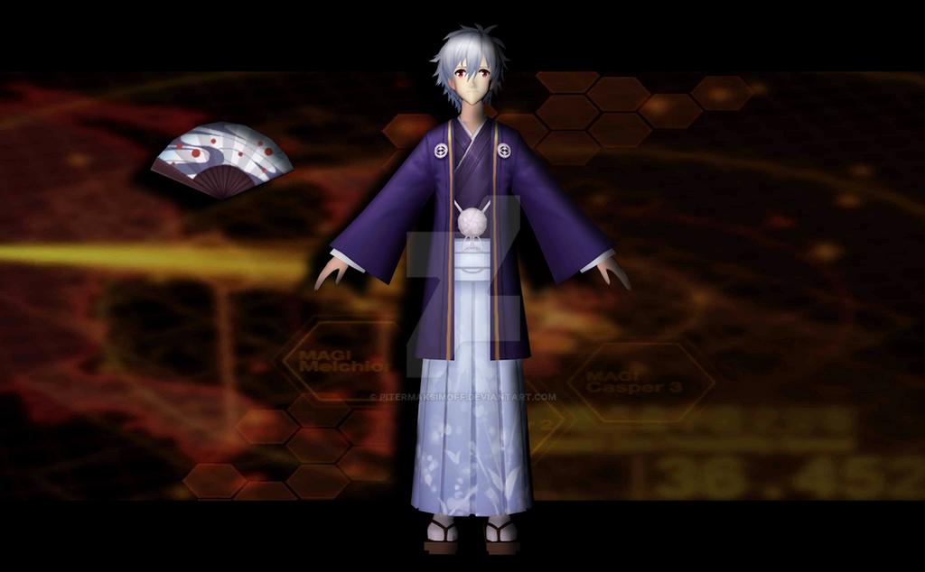 Kaworu Nagisa (kimono) by Pitermaksimoff