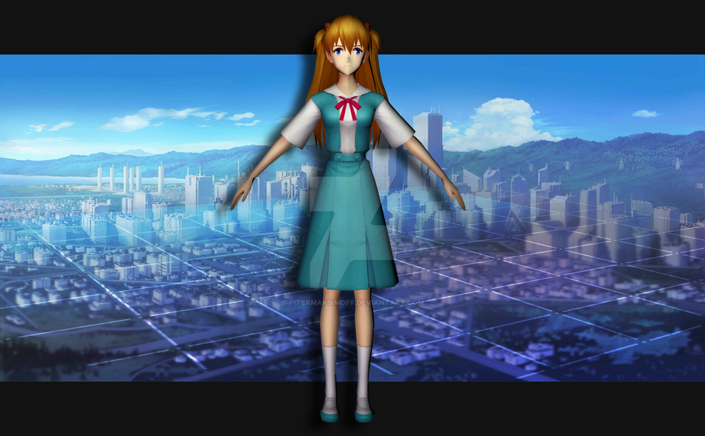 Asuka Langley (uniform) by Pitermaksimoff
