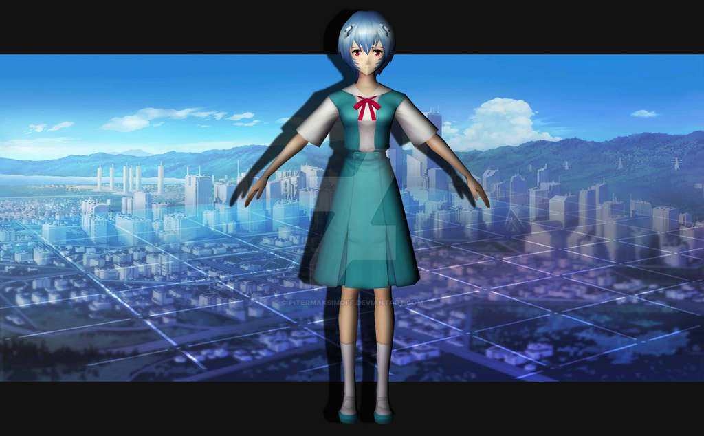 Rei Ayanami (uniform) by Pitermaksimoff