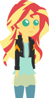 Sunset Shimmer Pointy Person by kingdark0001