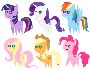 Pointy Pony Collection: Mane Six