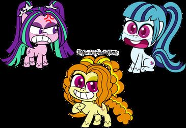 Pony Life: The Dazzlings by kingdark0001