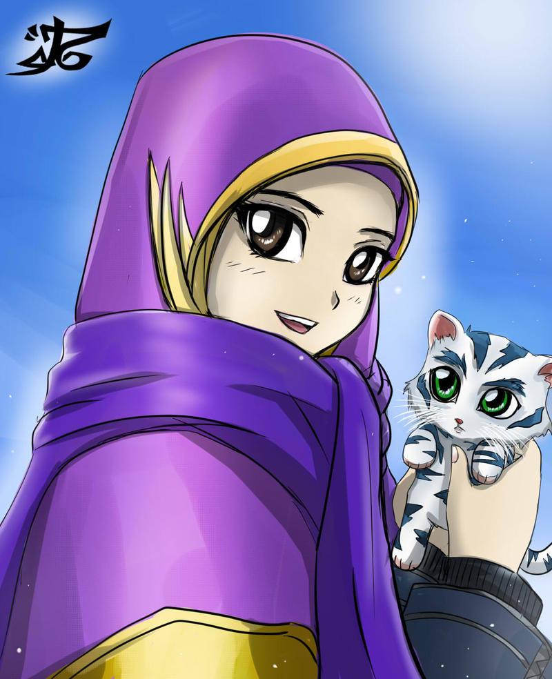 Muslimah and her cat 2 by Alaudeen313 on DeviantArt