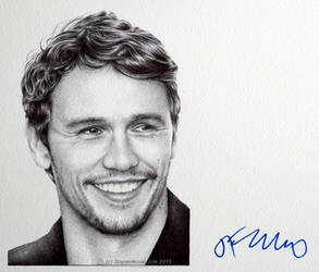 James Franco - signed portrait (ballpoint pen)