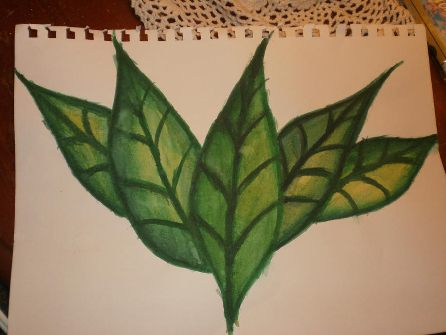 Leaves Painting by PreciouSxJade on DeviantArt