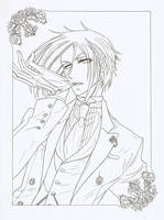 Sebastian - lineart by Fighter-chan