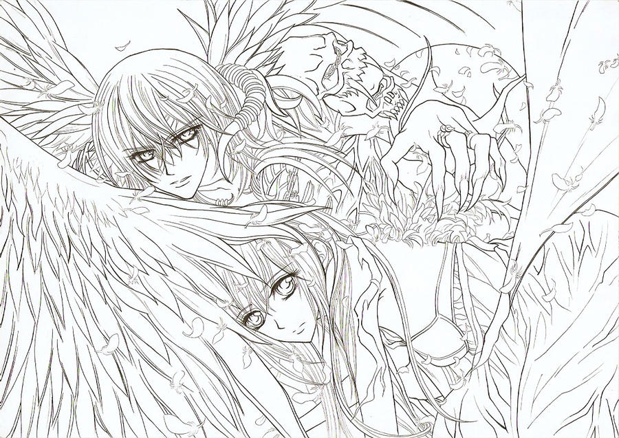 vampire knight zero coloring pages - photo#16
