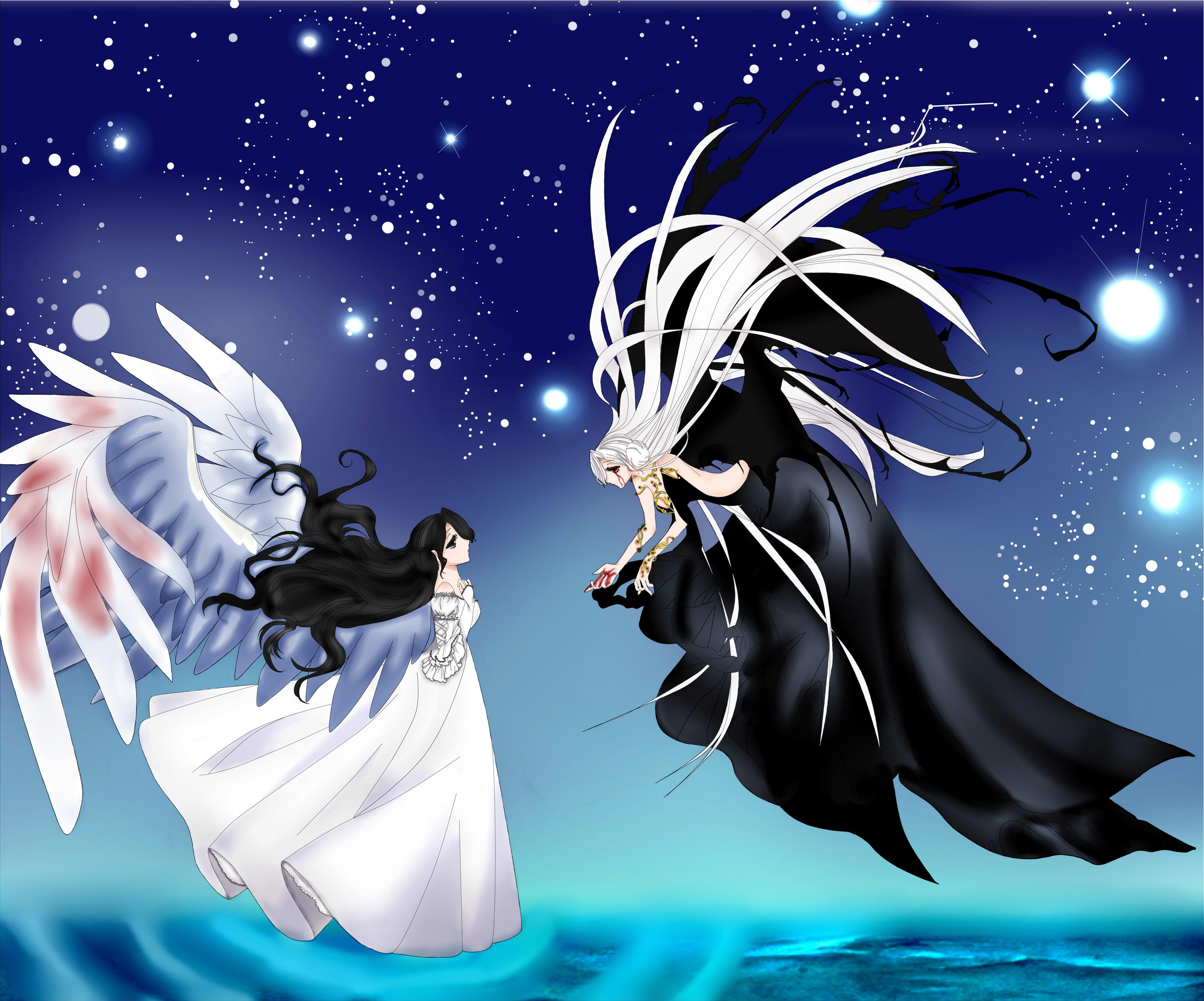 Ange et demon by lounabis on deviantart - Dessin de demon ...