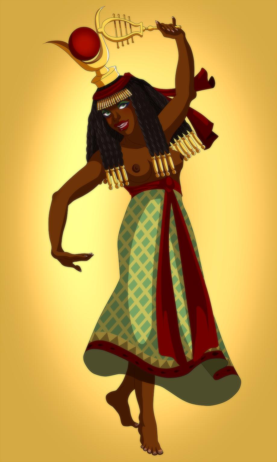 Character Design Challenge Deviantart : Hathor character design challenge by lounabis on deviantart