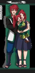 Uzushio Gaiden   Her little family by Lounabis