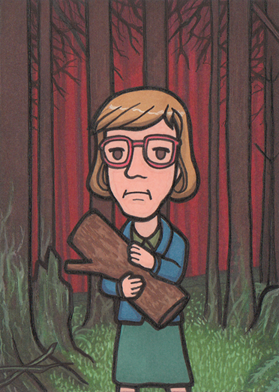 The Log Lady - Twin Peaks by Yamallow