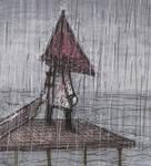 Pyramid Head in the rain