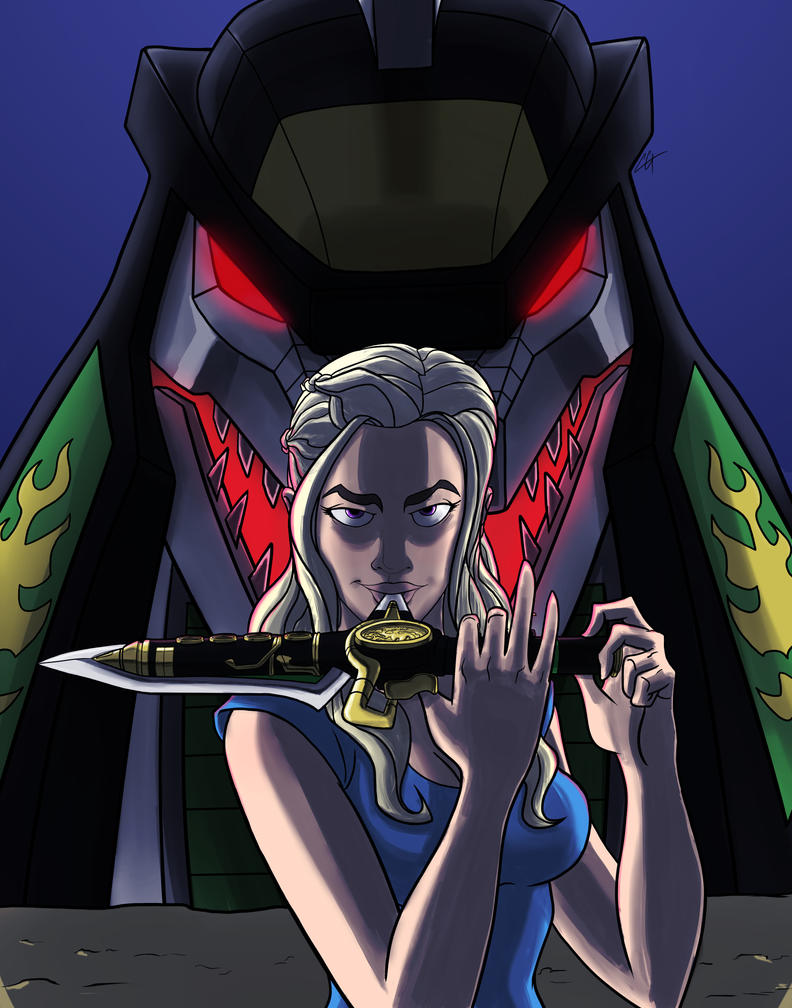 Daenerys Mother of DragonZord by czone