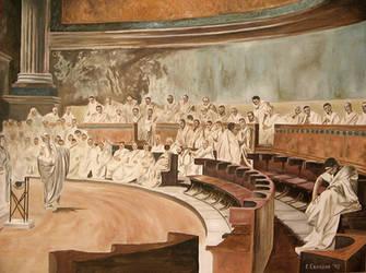 Cicero Denounces Catiline by MrErixon