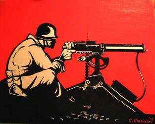 American Machine Gunner, WW2 by MrErixon