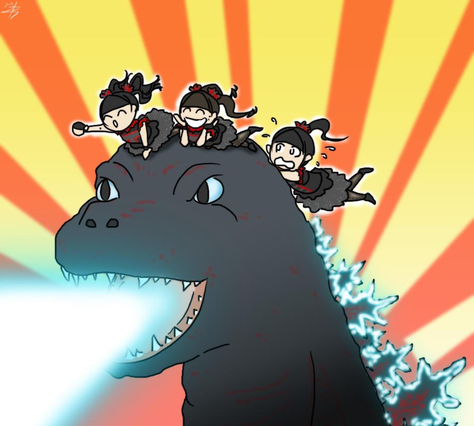 Babymetal Godzilla By GabrielBArtist On DeviantArt