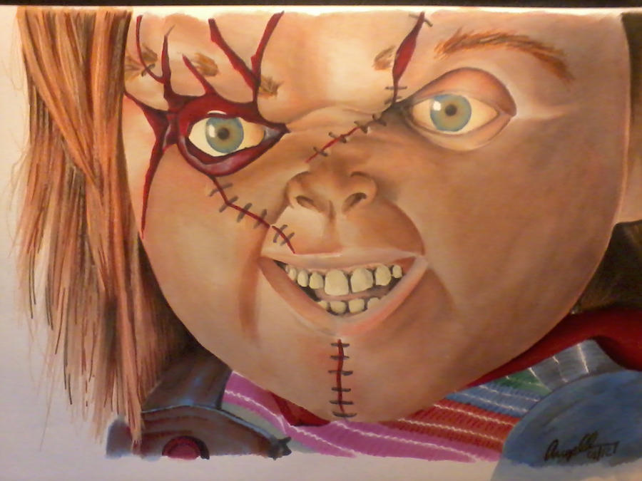 chucky done in markers by angelfaces1986