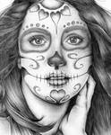 sugar skull girl in biro