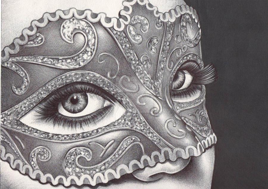 Masquerade Mask Sketch