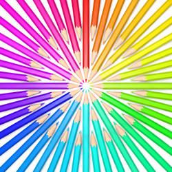 Rainbow Pencils by vitriel