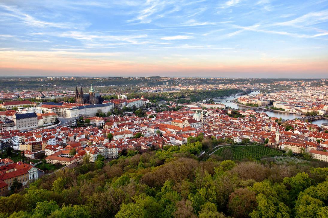 Golden Hour in Prague by vitriel