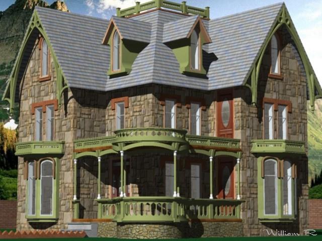 Casa estilo gotico 3d by willarmand on deviantart for Casa revival gotica
