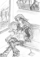 Luna Lovegood on the train by Banane-cuite
