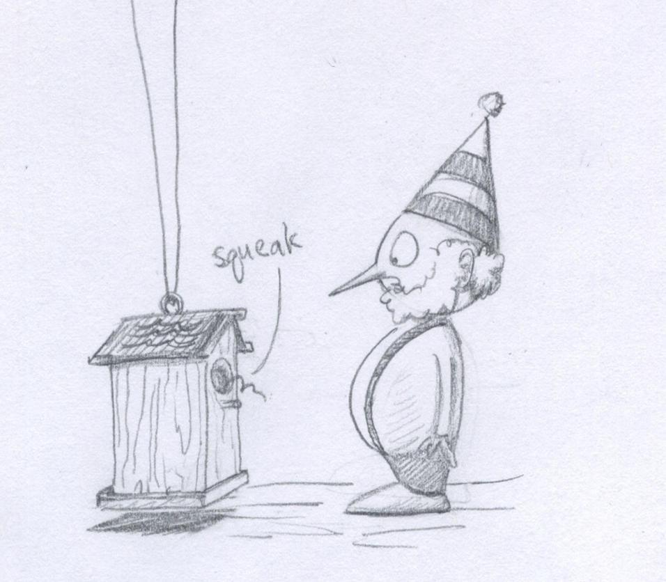 Pencil Nose Squeak by marissapruett