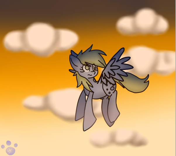 Derpy Hooves: High in the sky by Hello-Its-A-Snail
