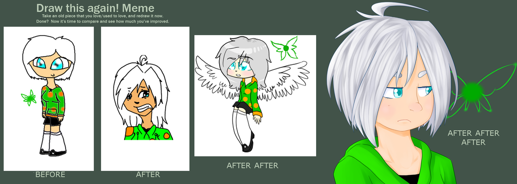 Before and after meme by CutieKittytTheArtist
