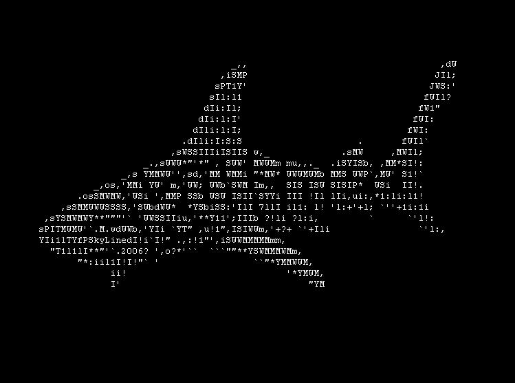SkyLined Shark Ascii Art by skylined
