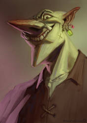 Goblin portrait 01 by RichardVatinel