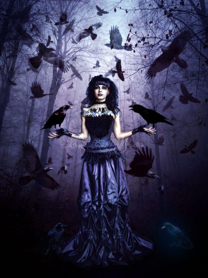 La femme aux corbeaux by CaroleBM
