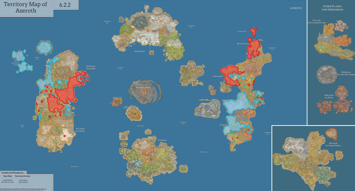 Political Map of Azeroth [7.0] by Hadaril on DeviantArt