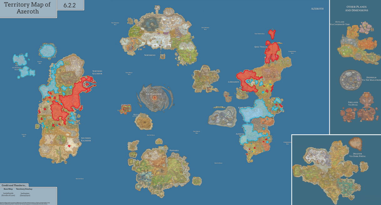 Political Map of Azeroth [7.0] by joeltopian on DeviantArt